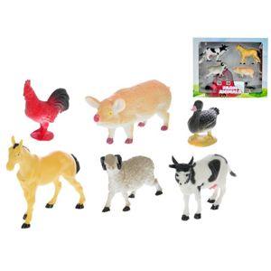 MIKRO -  Zvieratká domáce 4,5-11cm 6ks v krabičke 50765