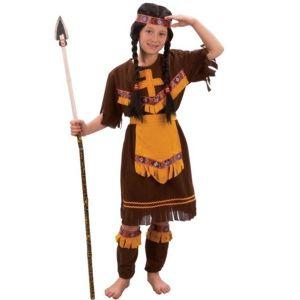 Karnevalový kostým Indiánka s návlekmi S
