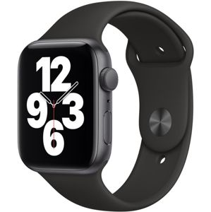 Apple Watch SE GPS, 44mm Space Gray Aluminium Case with Black Sport Band - Regular  + VYHRAJ PEUGEOT 208 - Smart hodinky