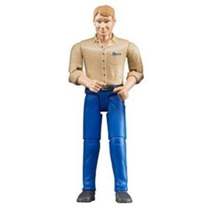 Bruder Bworld Figúrka Muž modré nohavice 60006BR