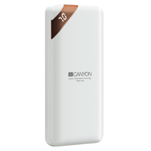 Canyon USB-C 10000mAh biely - Power bank polymérový