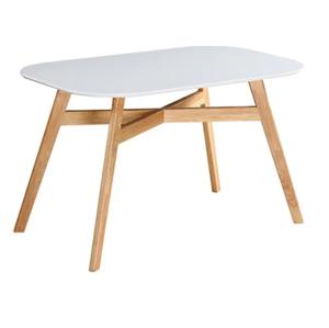 CYRUS 2 NEW 120x80  + VYHRAJ PEUGEOT 208 - jedálenský stôl 120x80x75cm biela/buk
