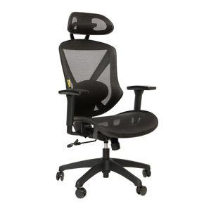 SCOPE CI - pracovná stolička čierny plast / čierna sieťovina