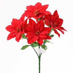 Florasystém Kytica Poinsettia červená /6 - Umelý kvet vianočný