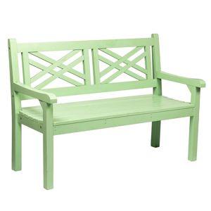 FABLA 124 NEO MINT  + VYHRAJ PEUGEOT 208 - Drevená záhradná lavička, neo mint, 124 cm