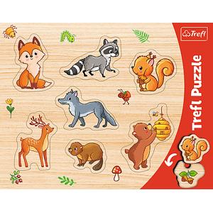 Trefl Trefl Puzzle Rámčekové vkladacie puzzle - Les