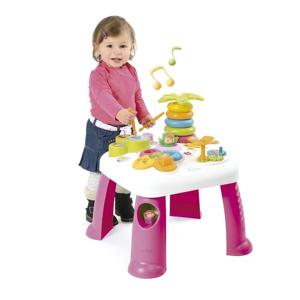 Smoby Cotoons multifunkčný stolík so svetlom a zvukom ružový 111703