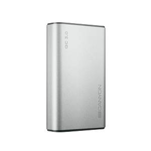 Canyon 10000mAh Quick Charge 3.0 Power Delivery strieborný CND-TPBQC10S