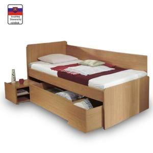 OTO 90 BUK - posteľ s úložným priestorom 90x200 cm, buk
