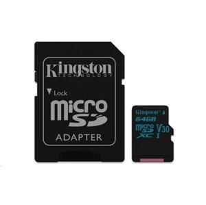 Kingston MicroSDXC 64GB Class U3 UHS-I V30 (r90MB,w45MB) SDCG2/64GB