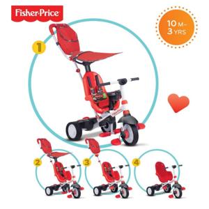 Fisher Price Trojkolka 320 Charisma 4v1 - červená 3200533