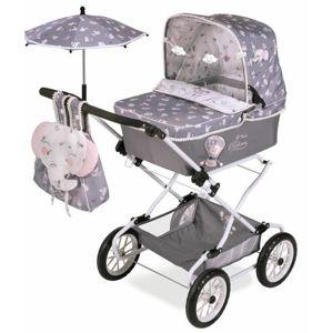 DeCuevas 82035 Skladací kočík pre bábiky REBORN so slnečníkom a doplnkami SKY 2020-90 cm