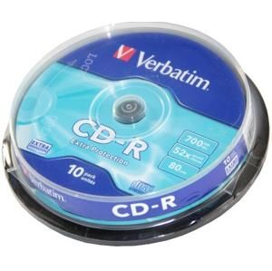 Verbatim CD-R 10ks, 700MB 52x 43437