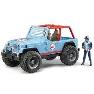 Bruder Jeep WRANGLER Cross Country modrý s figúrkou jazdca 02541