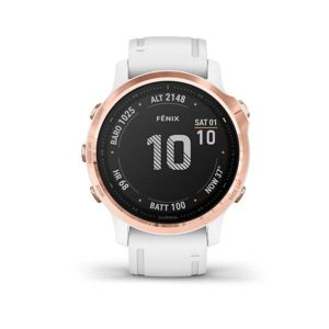 Garmin fénix 6S PRO, Rose Gold, White band  010-02159-11