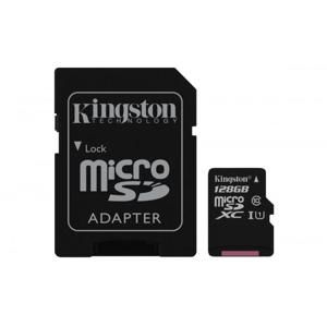 Kingston MicroSDXC 128GB Class 10 UHS-I (r80MB,w10MB) SDCS/128GB