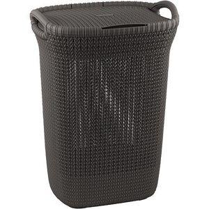 Strend Pro - Kôš Curver® KNIT 3676 57L, hnedý, 45x61x34 cm, na bielizeň, prádlo