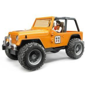 Bruder Jeep WRANGLER Cross Country oranžový s figúrkou jazdca 02542