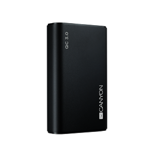 Canyon 10000mAh Quick Charge 3.0 Power Delivery čierny CND-TPBQC10B
