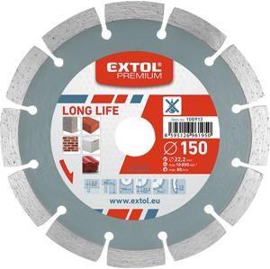 EXTOL 108913 Kotúč rezný diamantový LONG LIFE, segmentový
