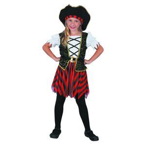 Karnevalový kostým Pirátka s klobúkom S