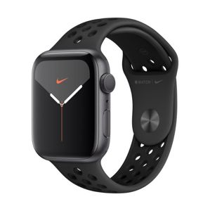 Apple Watch Nike Series 5 GPS, 40mm Space Grey Aluminium Case with Anthracite/Black Nike Sport Band  + VYHRAJ PEUGEOT 208 - Smart hodinky