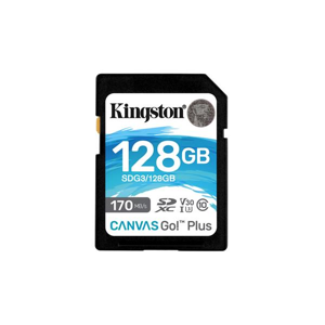 Kingston Canvas Go Plus SDXC 128GB Class 10 UHS-I (r170MB,w90MB) - Pamäťová karta SD