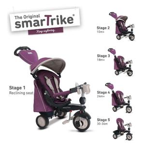 SMART TRIKE 840 Recliner Infinity 5v1 Fialovo-šedá 8400400