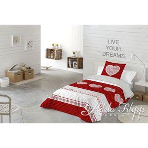 Posteľné obliečky Lily red - obliečky 200 x 140, 70 x 90 cm