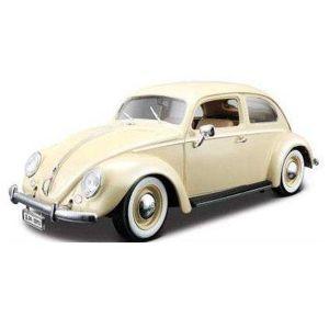Bburago 1:18 Volkswagen Beetle 1955 Beige