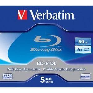 Verbatim BD-R DL 5ks, 50GB 6x 43748